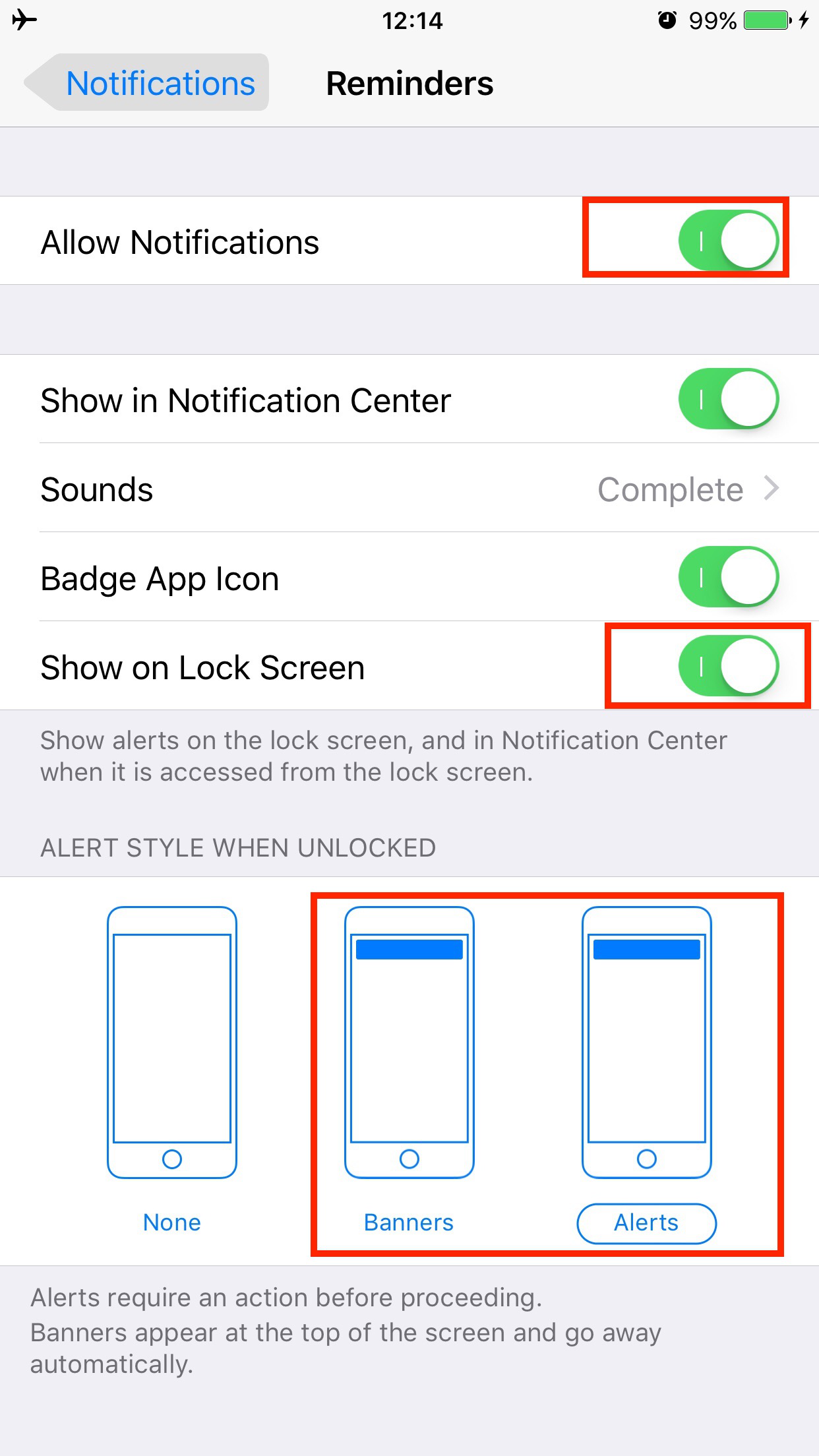Fix iPhone Reminders Not Working By Checking Notification Settings