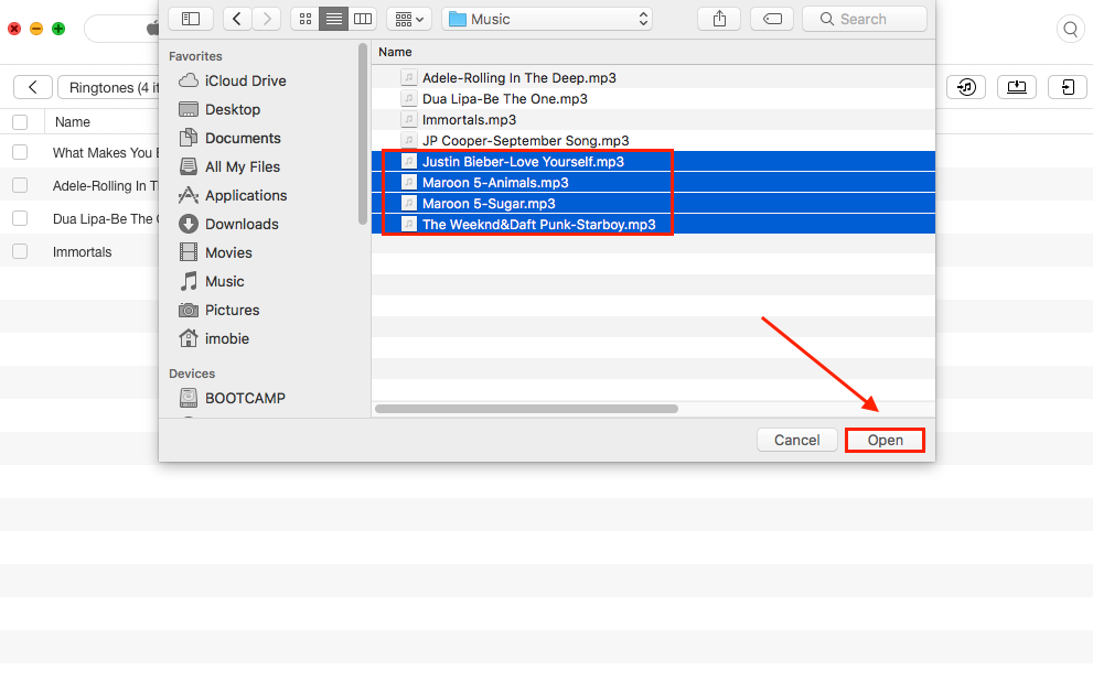 How to Convert MP3 to M4R with AnyTrans - Step 2