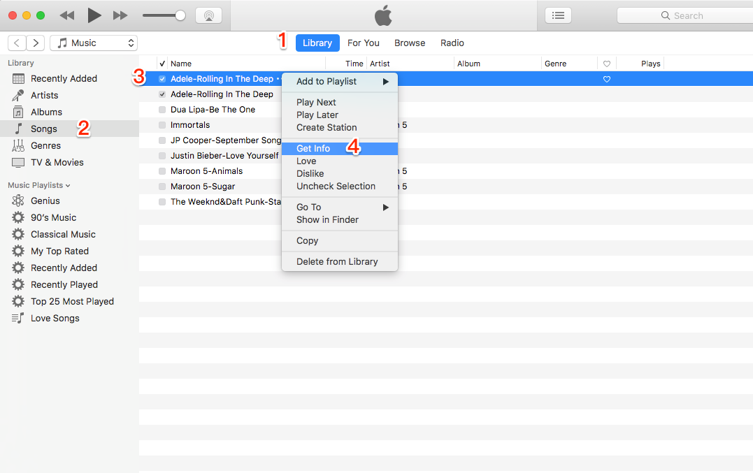 How to Change MP3 to M4R with iTunes - Step 1
