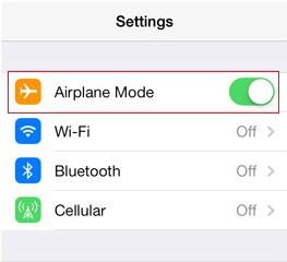 Turn Airplane Mode on to Silent iPhone