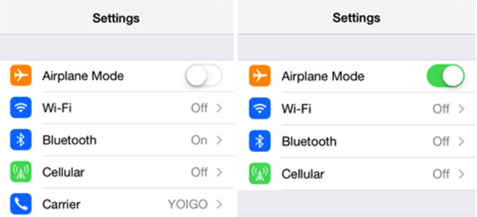 Fix iPhone Sound Not Working without Headphones via Airplane Mode