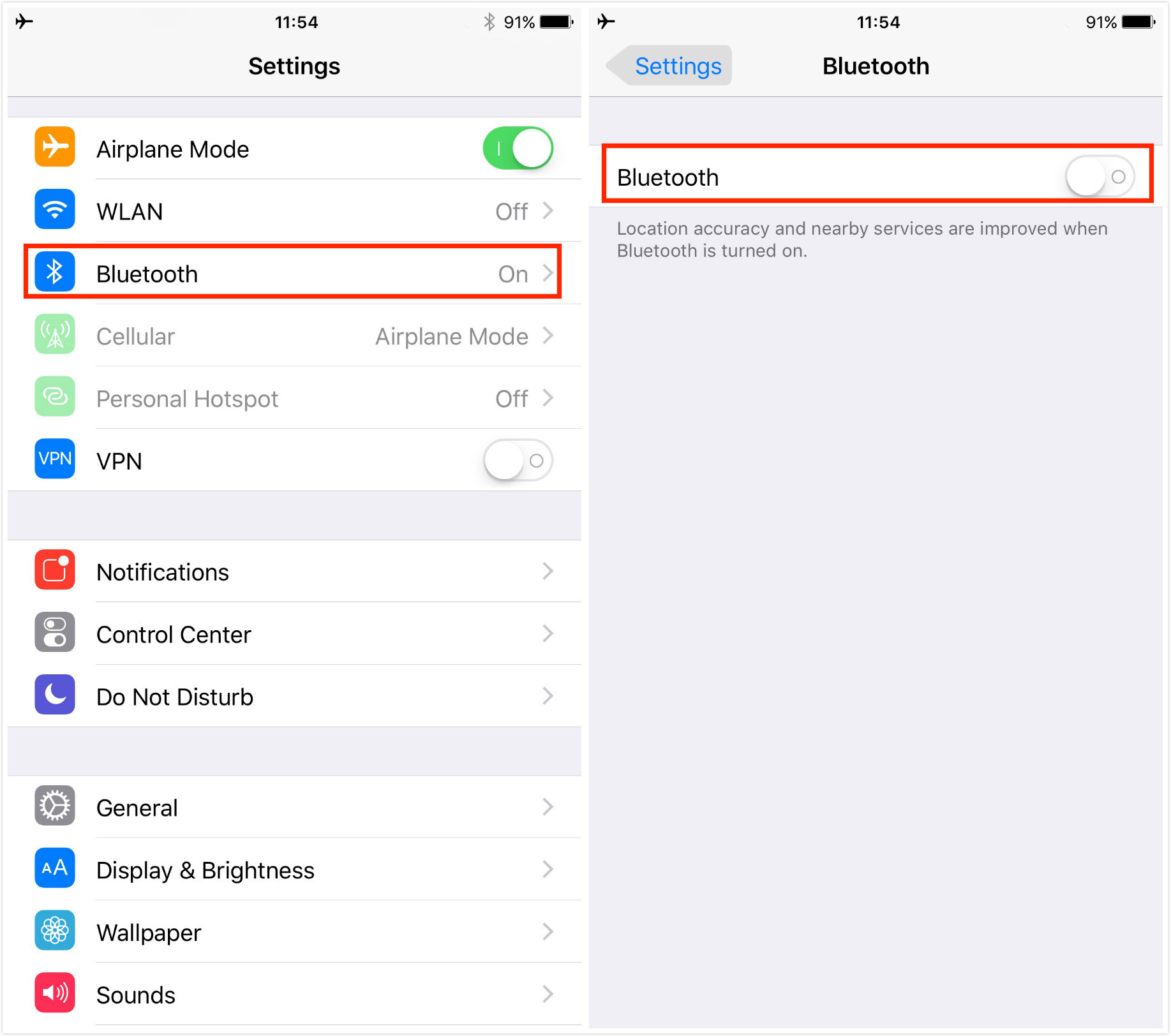 Fix iPhone Sound Not Working by Disabling Bluetooth