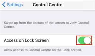 Fix iPhone Swipe Up Not Working - Turn on Control Centre for Lock Screen