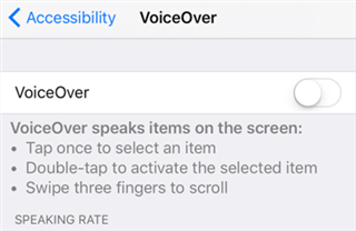 Fix iPhone Swipe Up Not Working - Turn off VoiceOver on iPhone