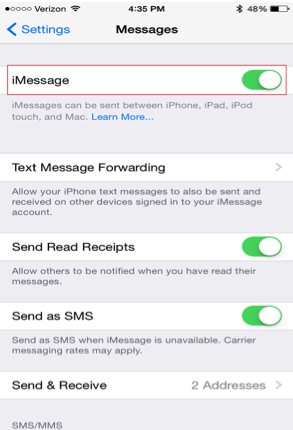 Send Messages to Another iPhone as iMessage