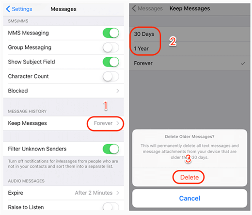 iPhone Erased Text Messages Automatically – Why Messages Disappeared?
