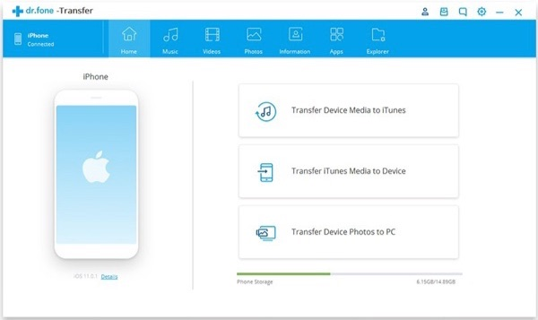 iPhone to Computer Transfer Software - Dr.fone - Transfer