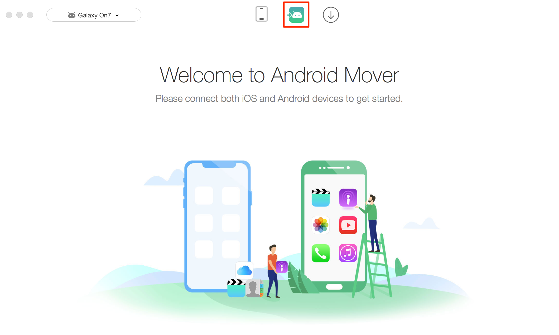 Transfer Data from iPhone to Android – Step 1