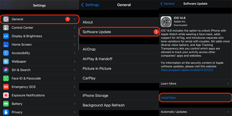 Update iOS to the Latest Version in Settings