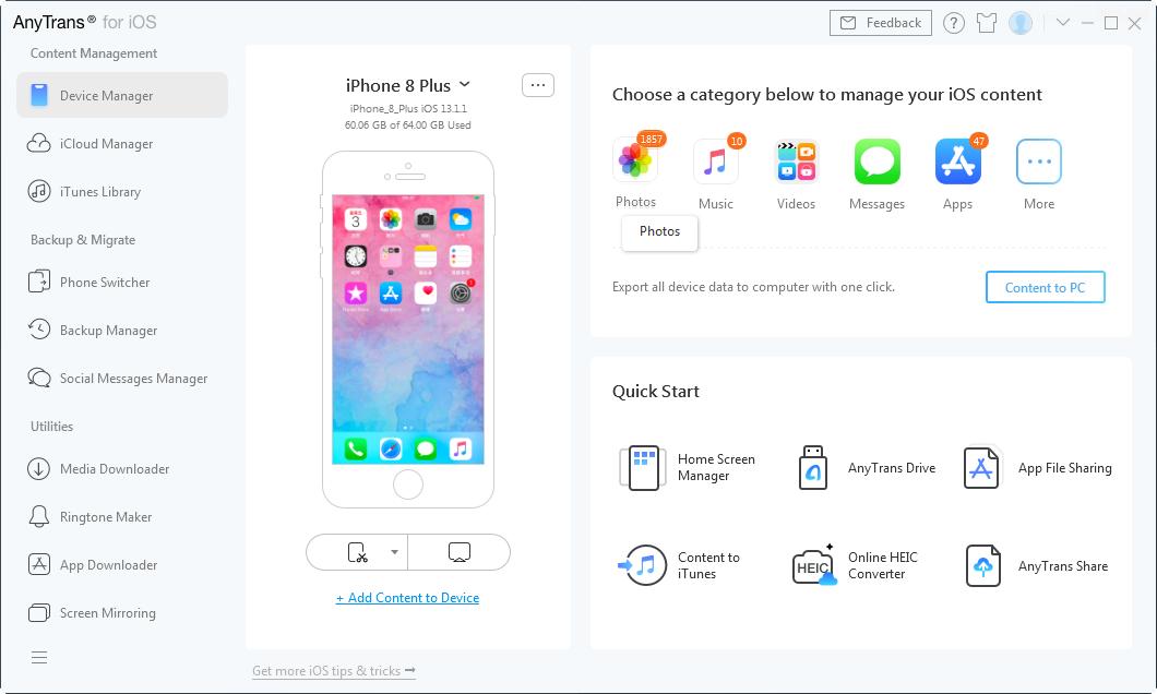 iPhone Won't Let Me Delete Photos – Step 1