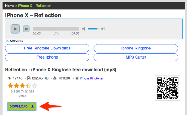 iPhone X Reflection Ringtone Download – via BestRingtonesFree