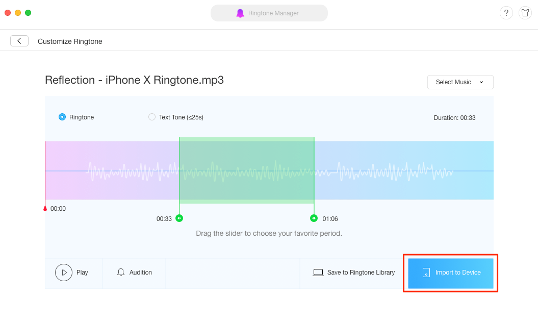 Get iPhone X Reflection Ringtone on Any iPhone – Step 3