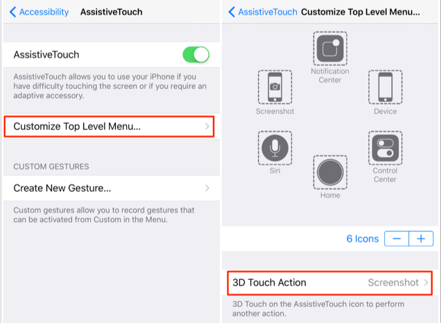 Enable 3D Touch to Take Screenshot