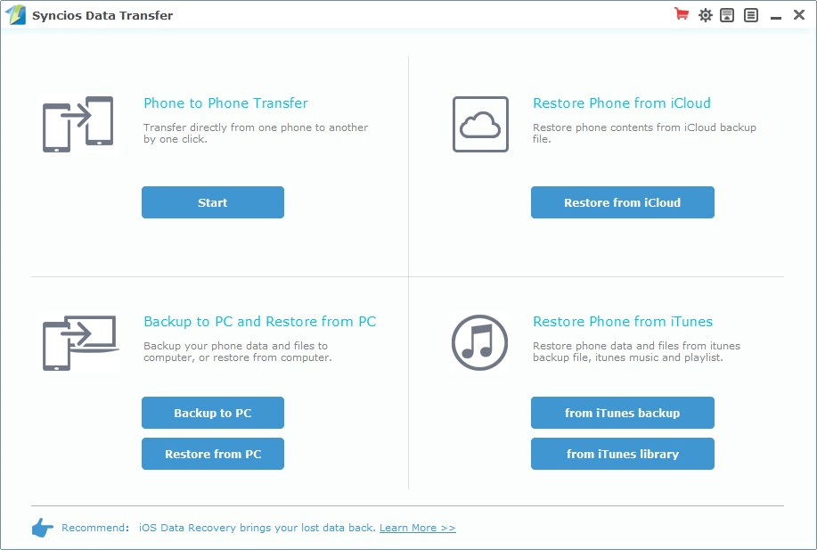 Screenshot of Best iTunes Alternative - SynciOS Data Transfer