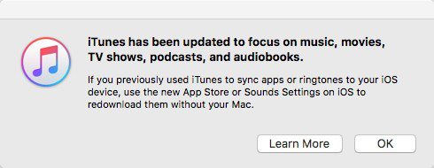 Apps Not Showing in iTunes 12.7