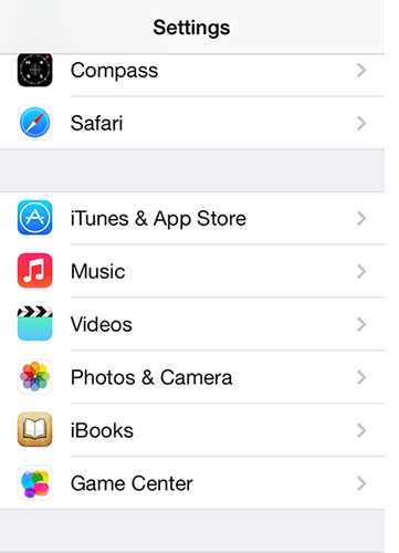 itunes & app store option