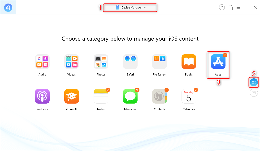 Fix iTunes Apps Not Showing – Back Up Apps via AnyTrans