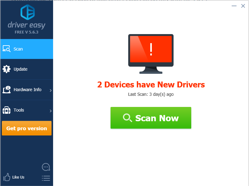 Use Driver Easy to scan the problem of your computer