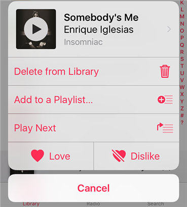 Remove a song from the iPhone