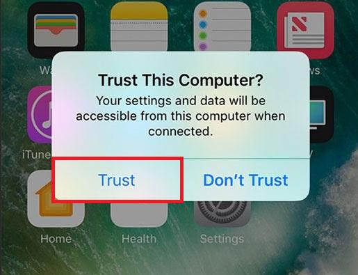 How to Fix iTunes Error 0xE800002D - Tap Trust This Computer