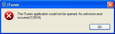 iTunes Error 13014
