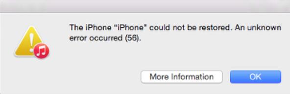iTunes Error 56