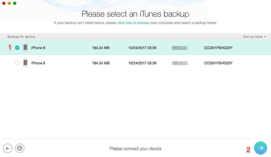 How to Restore iPhone from iTunes Backup without Data Erasing – Step 3