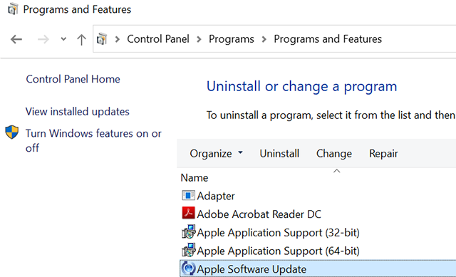 Fix Apple Software Update Utility