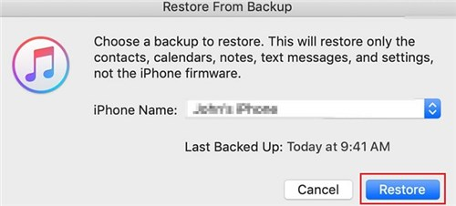 Hit the Restore Button on iTunes