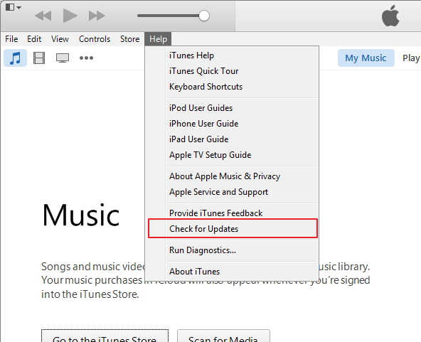 How to Fix iTunes Movie Not Playing via Update iTunes Version