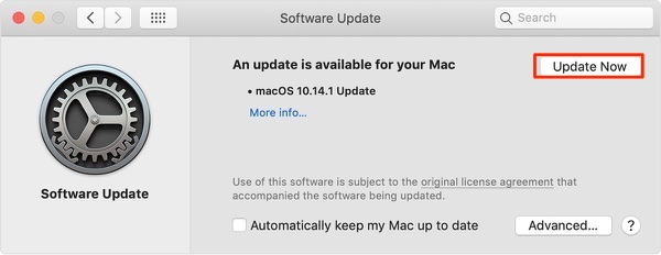 Fix iTunes Music Download Stuck on Waiting - Update your Mac
