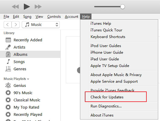 How to Fix iTunes Not Playing Music via Check iTunes Update (On Windows)