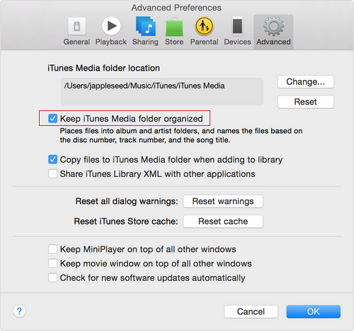 How to Fix iTunes Original File Could Not Be Found via iTunes Media Folder Organized