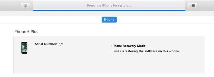 The Stuck Issue of Preparing an iPhone for Restore