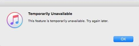 iTunes Store Issues - iTunes Store is Temporarily Unavailable