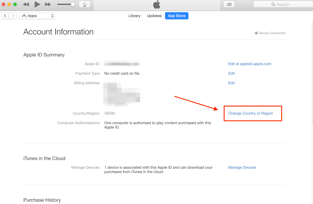 iTunes Store Issues - Change iTunes Store Location on Computer