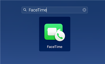 Launch the FaceTime App on Your Mac