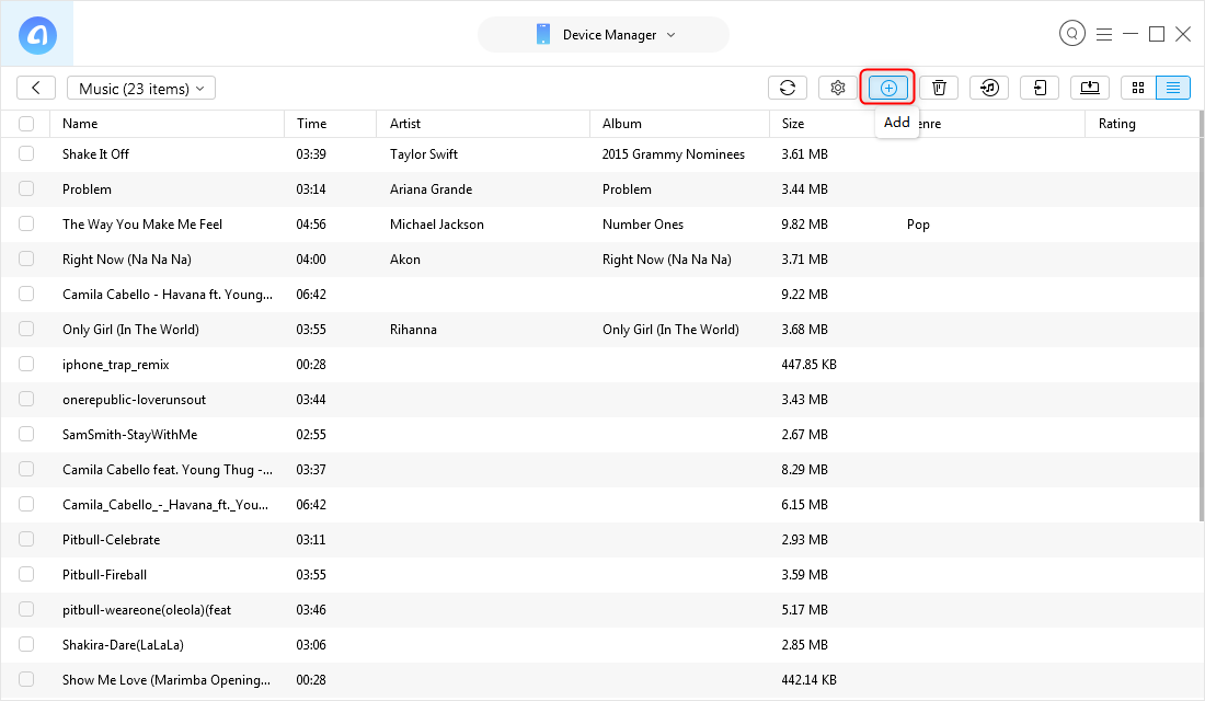 How to Transfer You Say MP3 to iPhone - Step 3