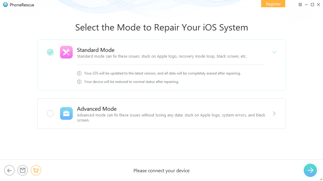 How to Fix iPhone/iPad Locked/Froze During iOS Update – Step 2