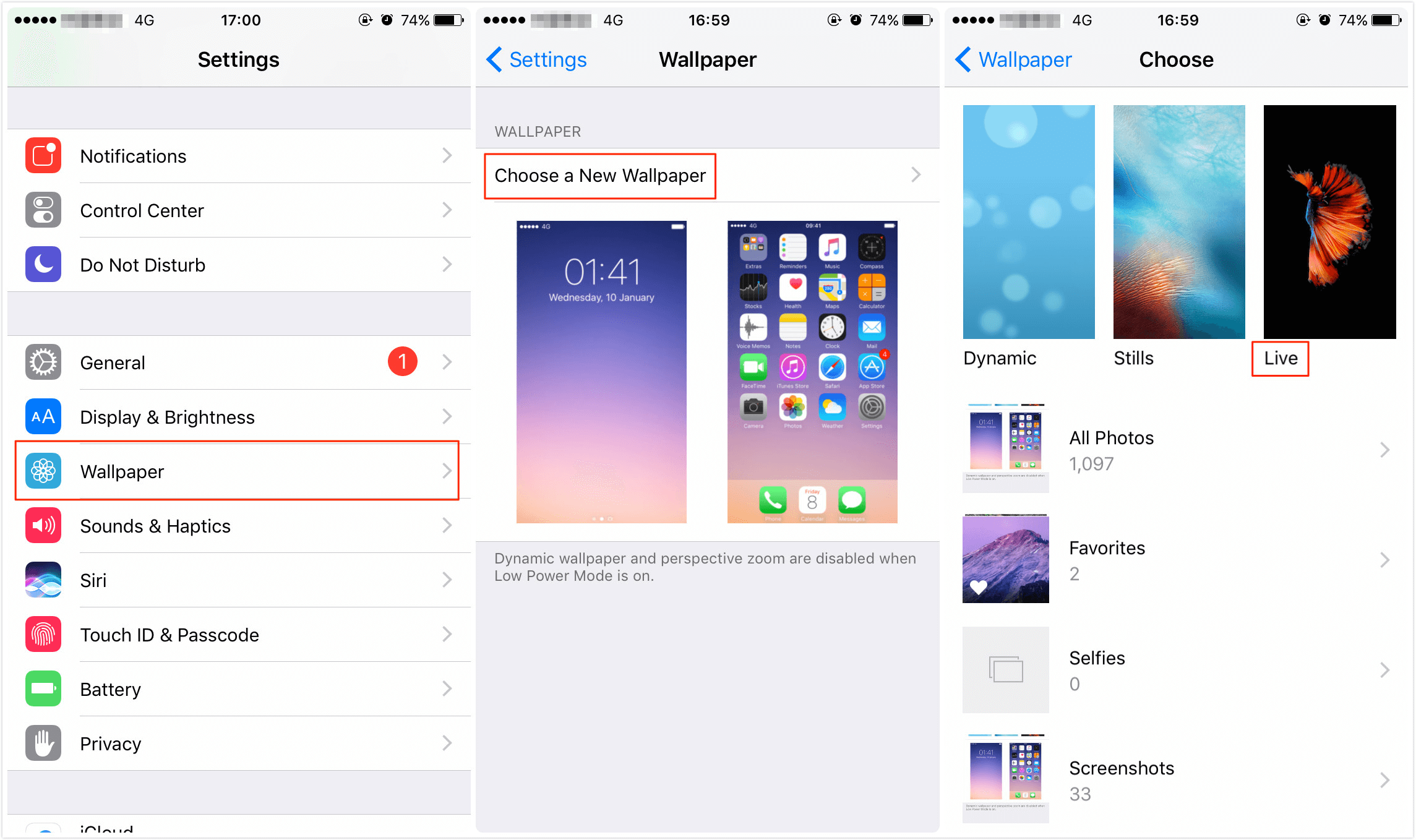 How to Fix iPhone X/8/7/6S Live Wallpaper Not Working – Solution 3