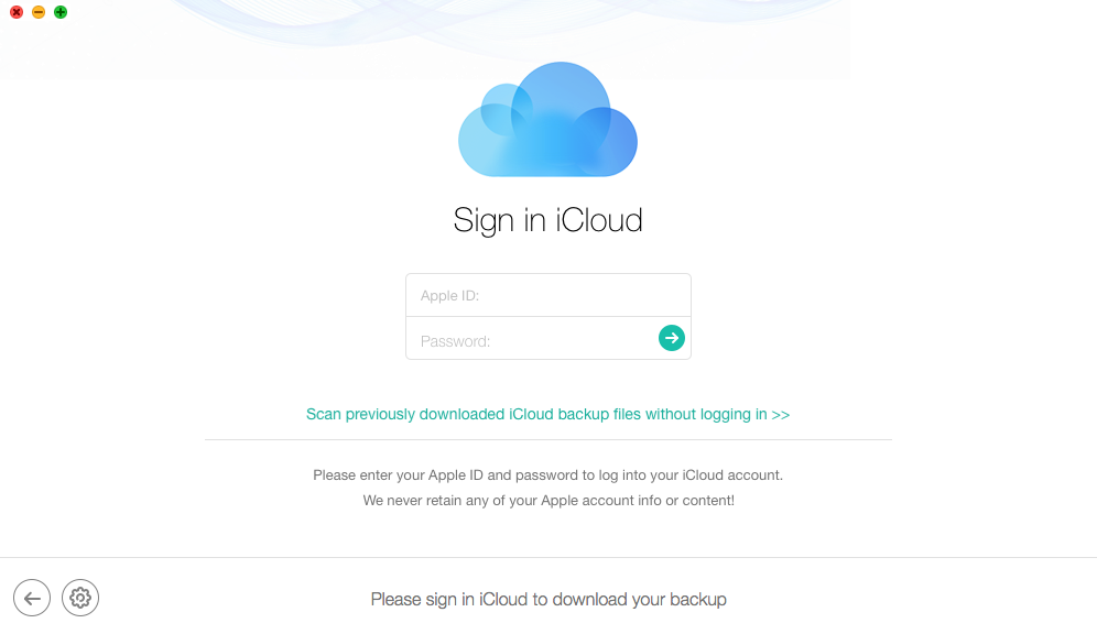 Fix iPhone iPad Lost Data After iOS 11 Update with iCloud Backup - Step 2