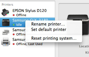 Printer Issues on El Capitan