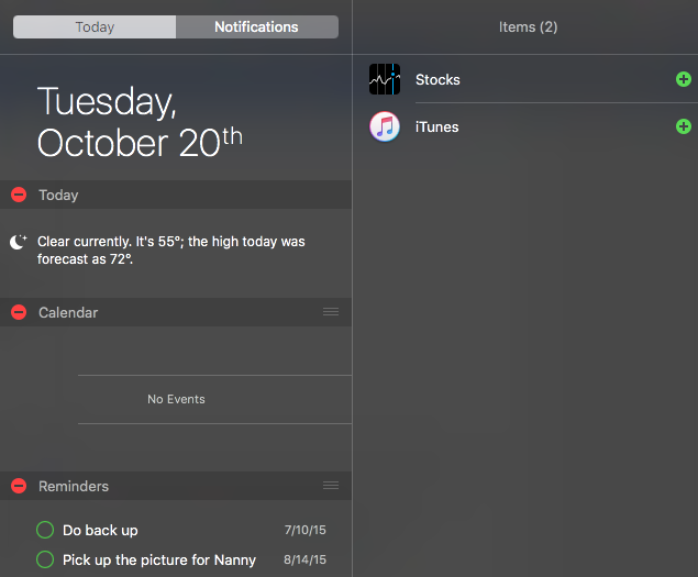 Can't Add Find My Friends to Notification Center