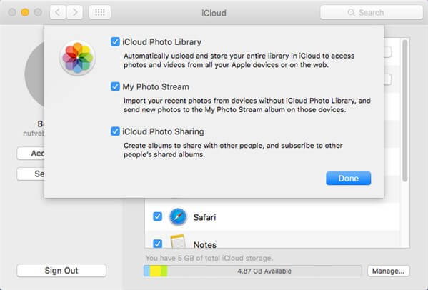 Transfer Photos from Mac to iPhone via iCloud Photo Library