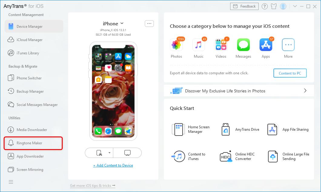 Click Ringtone Maker from the Main Interface