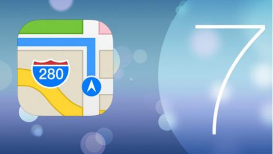 maps app in iOS 7