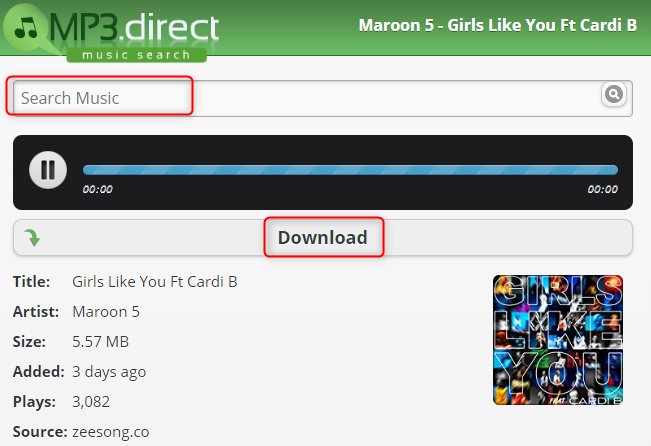 Free Download Girls Like You to Computer – MP3.direct