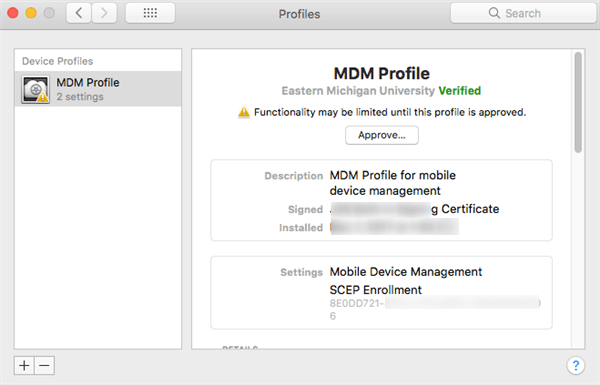 Check if There is MDM Profiles on Mac