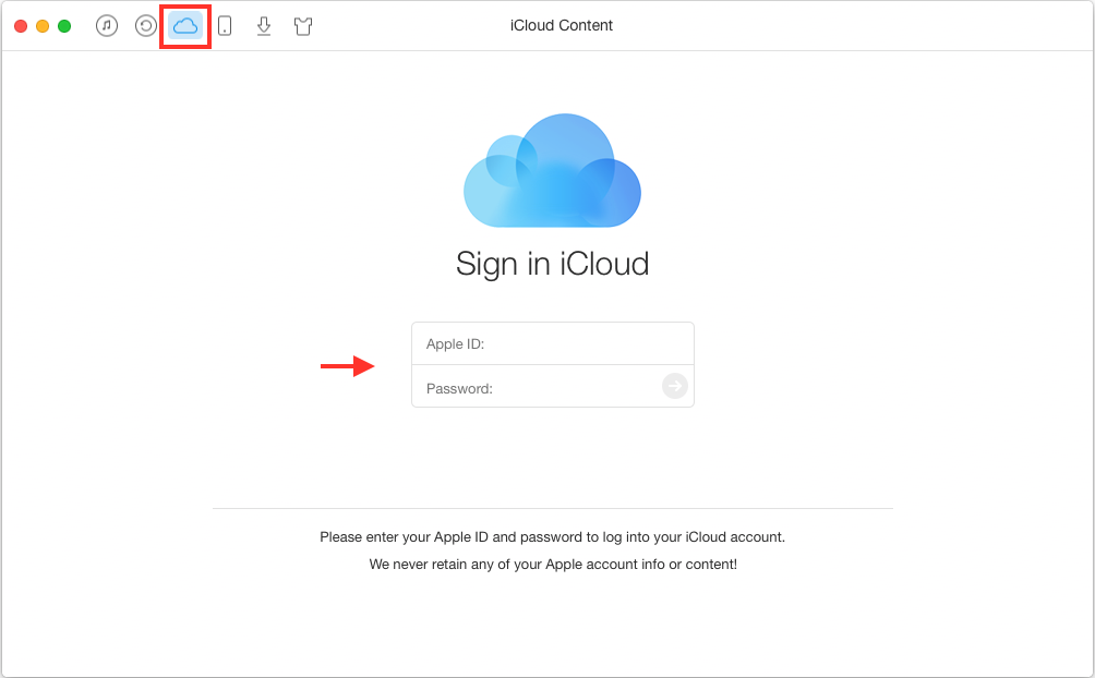 Merge Duplicate Contacts on iCloud with AnyTrans - Step 1