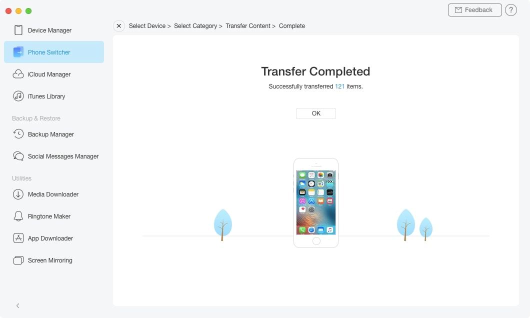 How to Transfer Data from iPad to iPad via AnyTrans - Step 4